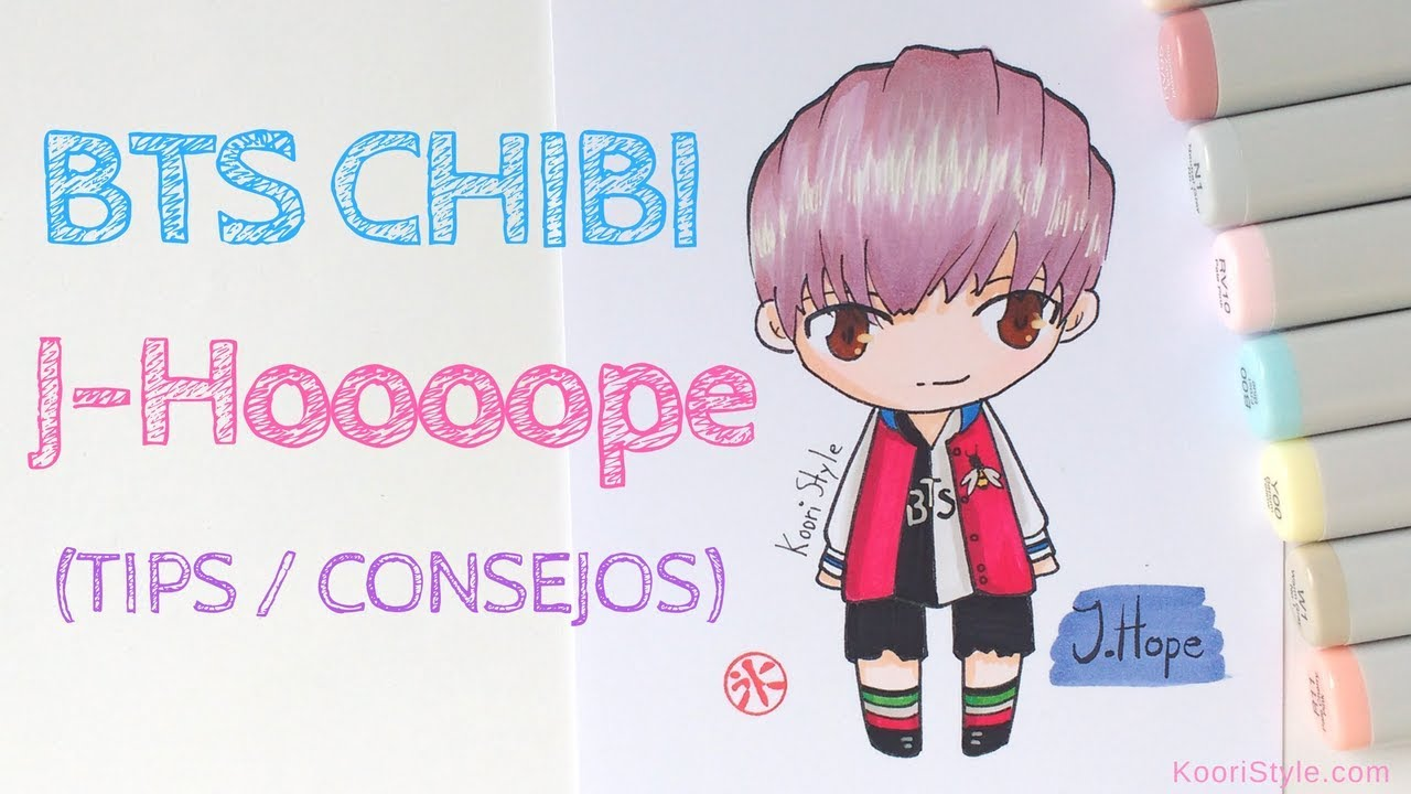 Bts Chibi Speed Drawing J Hope Advice Eng Esp Youtube
