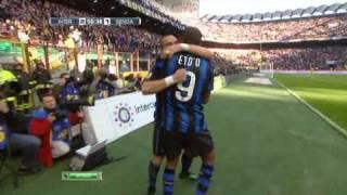 Primo gol di Eto'o - Inter vs. Genoa (5:2)