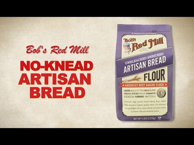 Artisan Bread Flour No Knead Artisan Bread Recipe Bob S Red Mill Youtube
