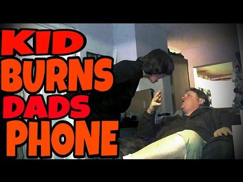 KID BURNS DAD'S PHONE OVER CHRISTMAS COOKIES!!!