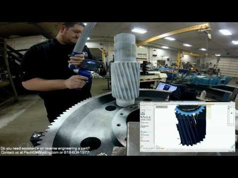 Reverse Engineering a Large Gear with a FARO 3D Laser Scanner