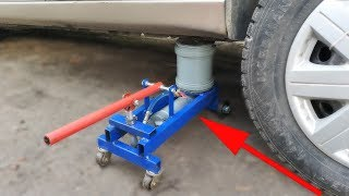 How to make a powerful hydraulic jack using plastic pipes