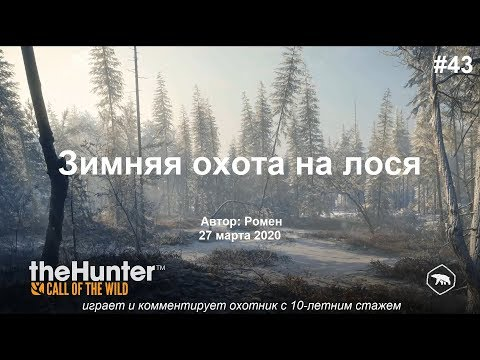 Зимняя охота на лося в The Hunter Call of the Wild (Medved Taiga)