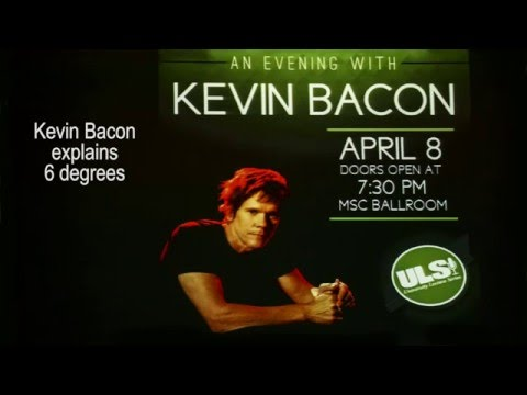 """Kevin Bacon Live on Stage  explains """"6 Degrees"""""""