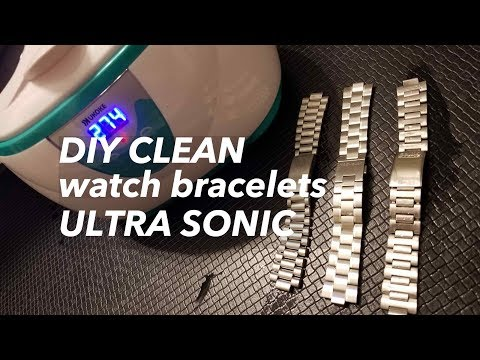 HOW TO Ultrasonic Clean Diamond Ring Rolex Omega Watch Bracelet Sag Jewelry Speedmaster Submariner