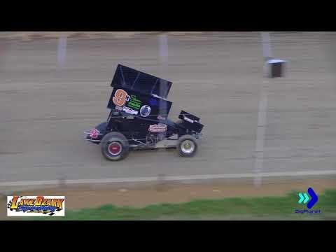 360 Sprint Cars 1st Heat Race  Lake Ozark Speedway 7-14-18