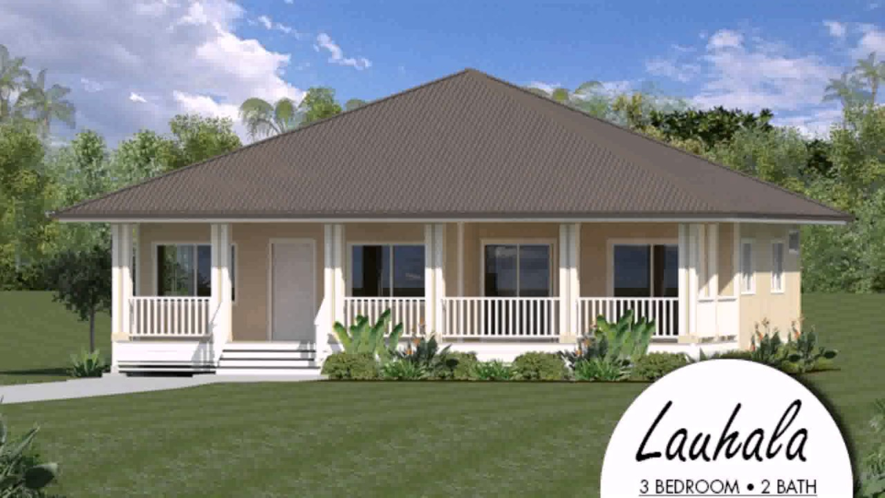 Plantation style house plans hawaii youtube for Aloha package homes