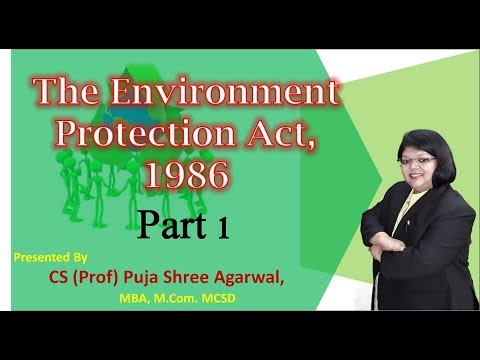 ENVIRONMENT PROTECTION ACT 1986 Part 1 in HINDI