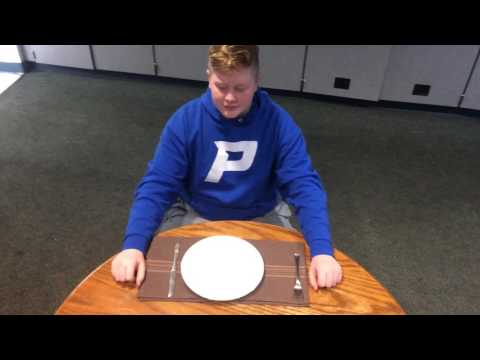 How to actually set a table