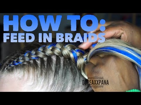 Feed In Braids on Straight Hair
