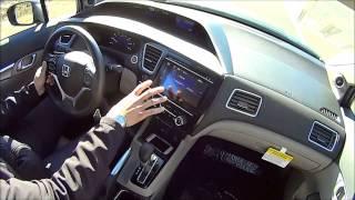 2014 Honda Civic EX Sedan Test Drive Gray Modern steel metal