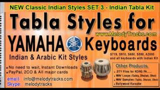 Pal pal dil ke paas - Tabla Styles Yamaha PSR S Keyboards - Indian Kit