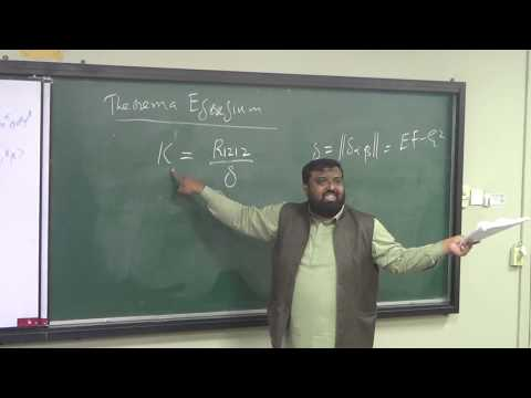 Lecture 23 (Part 3): Riemann Tensor  And Theorema Egregium