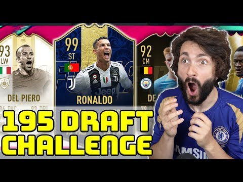 99 RONALDO U 195 DRAFT CHALLENGEU! FIFA 19