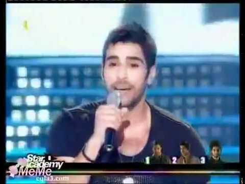Karim singing with ahmed (Ahla haga feki) in the 4th prime of Star academy 8 .flv