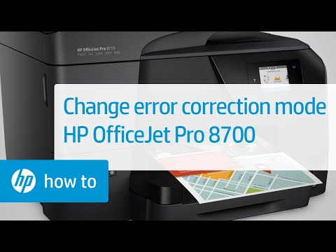 Changing Error Correction Mode on HP OfficeJet Pro 8700 Series Printers