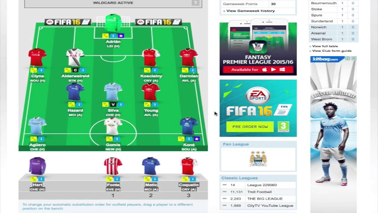 how to create fantasy premier league