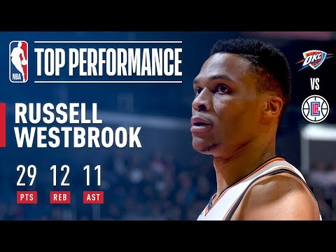 Russell Westbrook Leads the Thunder to Victory with a Triple Double | January 4, 2018