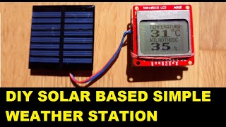 DIY Solar Powered Weather Station ( Temperature & Humidity ) From 5 Components (ATTINY/ARDUINO)