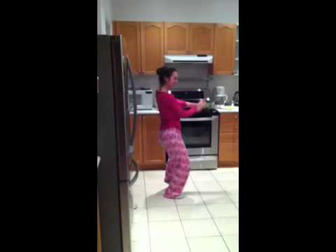 Dancing in the kitchen!