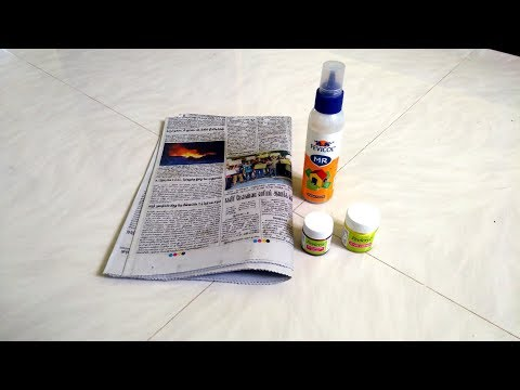 Best out of waste craft idea | art and crafts | Newspaper Reuse with empty fevicol bottle