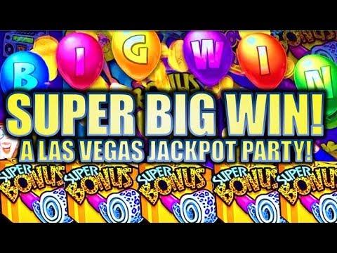 ★SUPER BIG WIN!★ 🥳 SUPER BONUS! NEW JACKPOT PARTY ULTIMATE PARTY SPIN Slot Machine Bonus (SG)