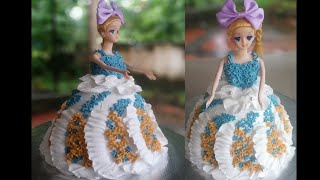How to make Doll Cake at Home Doll Cake Tutorial Doll Cake Recipe Without Oven