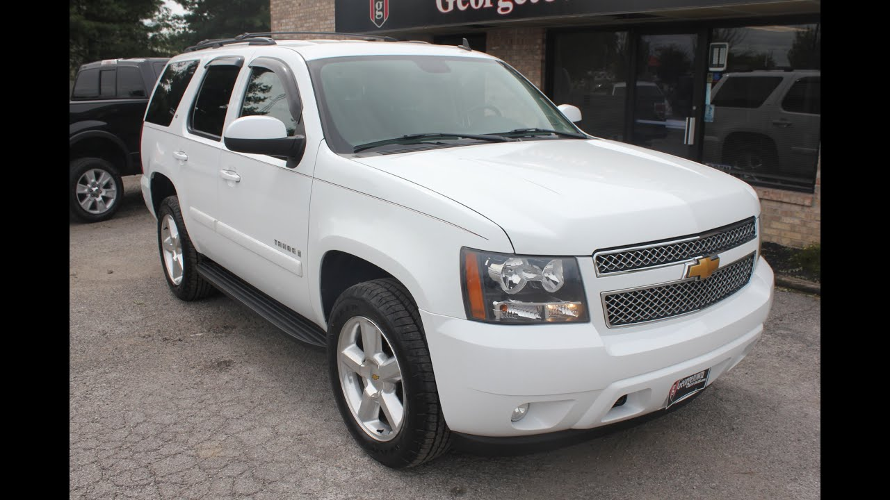used 2007 chevrolet tahoe lt white for sale georgetown. Black Bedroom Furniture Sets. Home Design Ideas