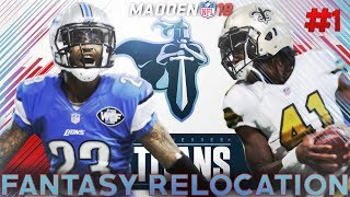The Fantasy Draft! Madden 18 Connected Franchise Fantasy Draft Relocation Franchise Episode 1