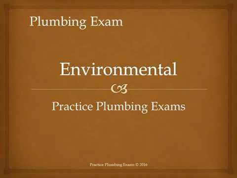 Environmental Protection plumbing exam Practice Plumbing Exams Test and revision