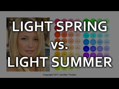 Light Spring vs Light Summer - Seasonal Color Analysis