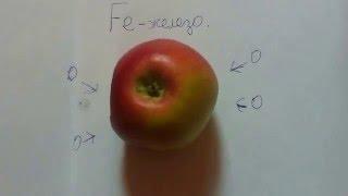 Почему яблоко темнеет при разрезе?