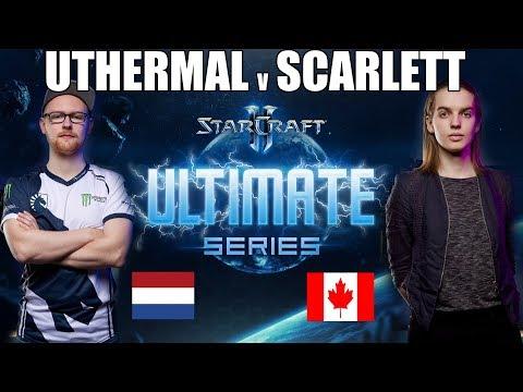 Starladder ULTIMATE Global Playoffs Ro12 - Scarlett (Zerg) vs Uthermal (Terran)