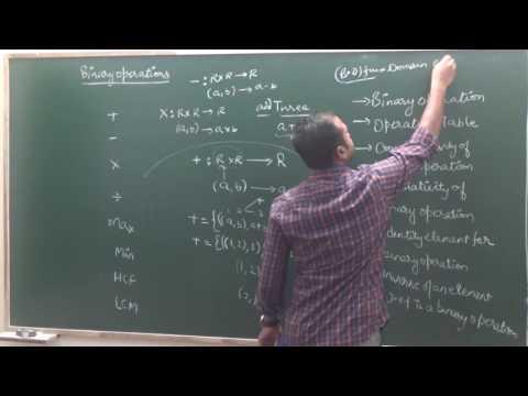 Binary Operations | CBSE 12 Maths NCERT Ex 1.4 intro ( Part 1)