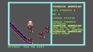 Buck Rogers Countdown to Doomsday (C64) Opening Battle