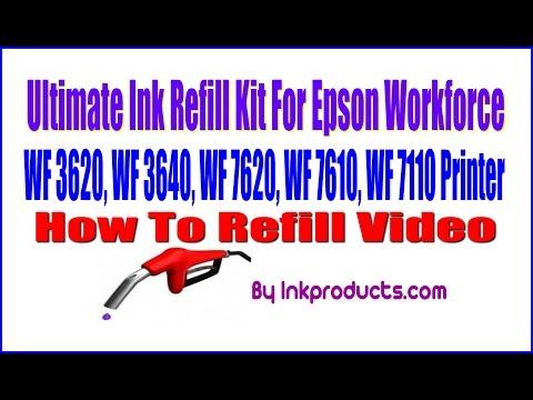 Ultimate Ink Refill Kit For Epson Workforce WF 3620, WF 3640, WF 7620, WF 7610, WF 7110