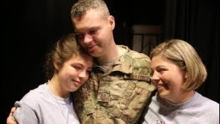 air force dad surprises daughter with early return from afghanistan