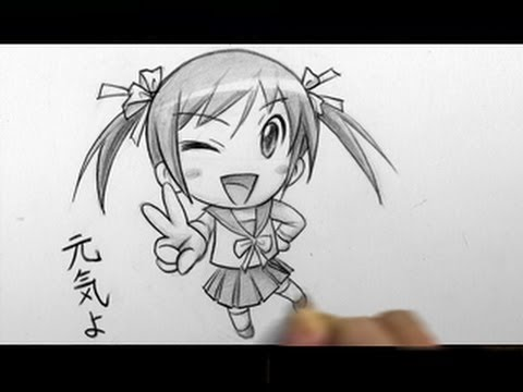 How to Draw a Chibi: Winking, Peace Sign