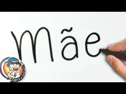 Como Transformar A Palavra Mae Em Desenho Cartoon Youtube
