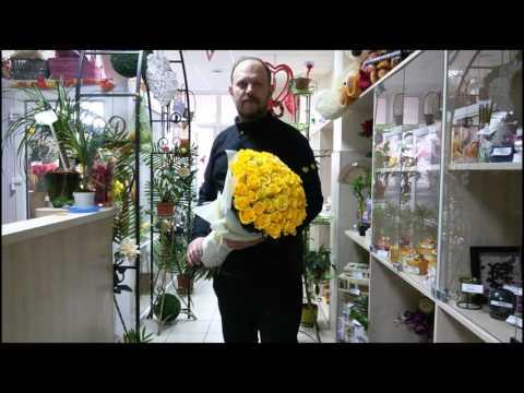 Видео Букет невесты из роз и хризантем