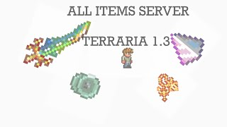 TERRARIA 1.3 ALL ITEMS SERVER (MOBILE) ANY ITEM