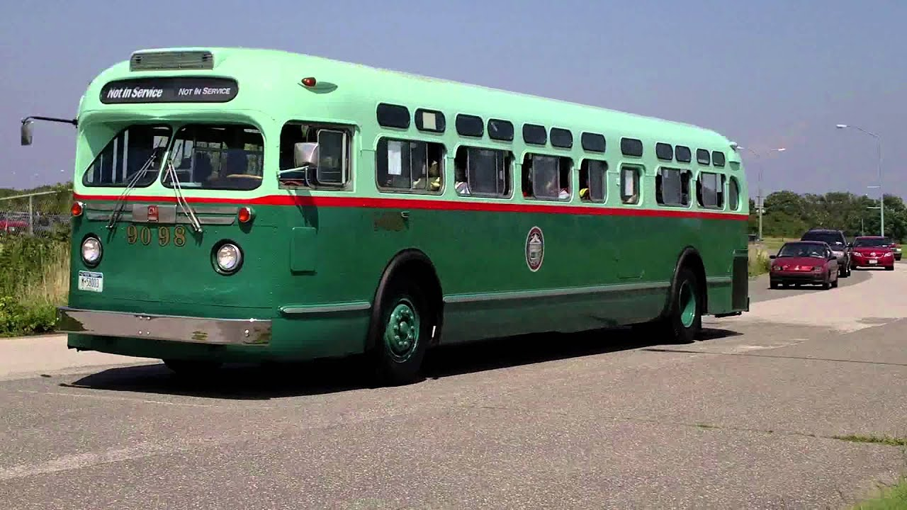 Rochester Ny Restored Old Look Bus: 1956-58 GMC Model TDH-5106 (Old Look
