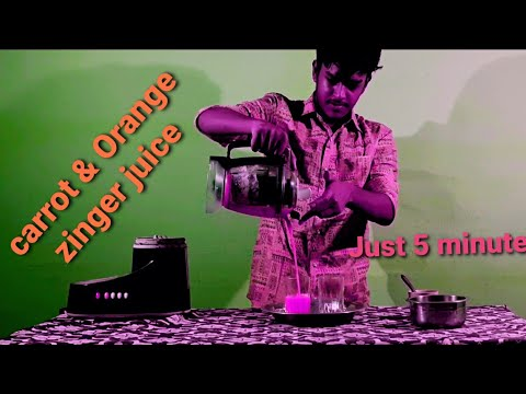 5 min juice Carrot and Orange zinger juice