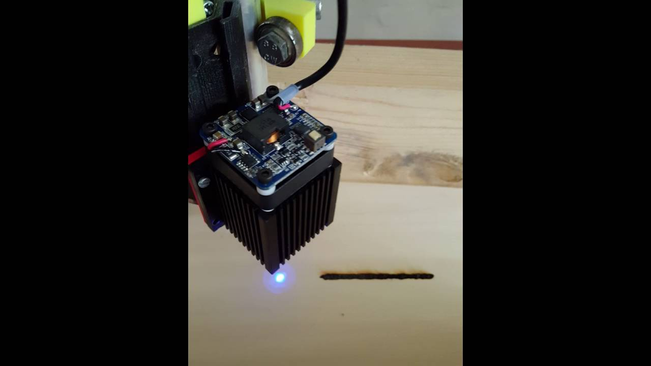 I° Test - Laser on MPCNC 5 5w by Manuel Stabile
