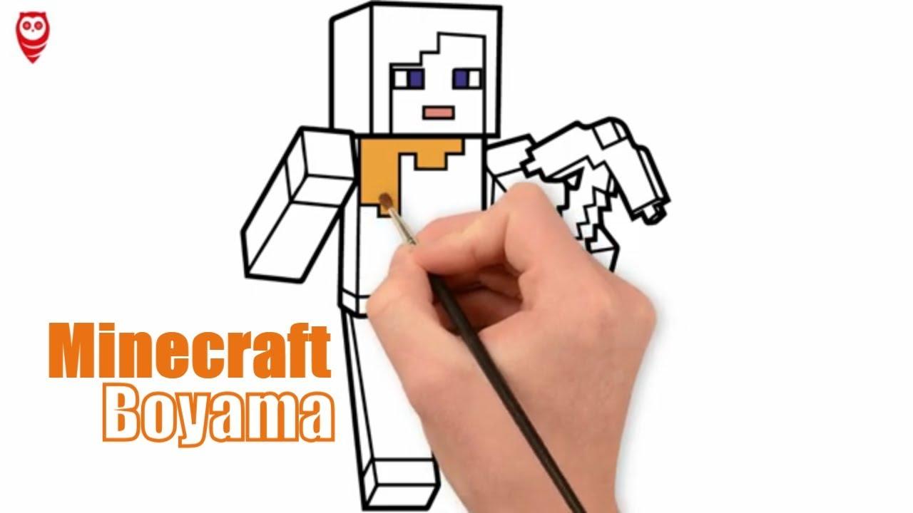 Minecraft Karakter Boyama Ve Cizim Sayfasi Cocuklar Icin Nasil