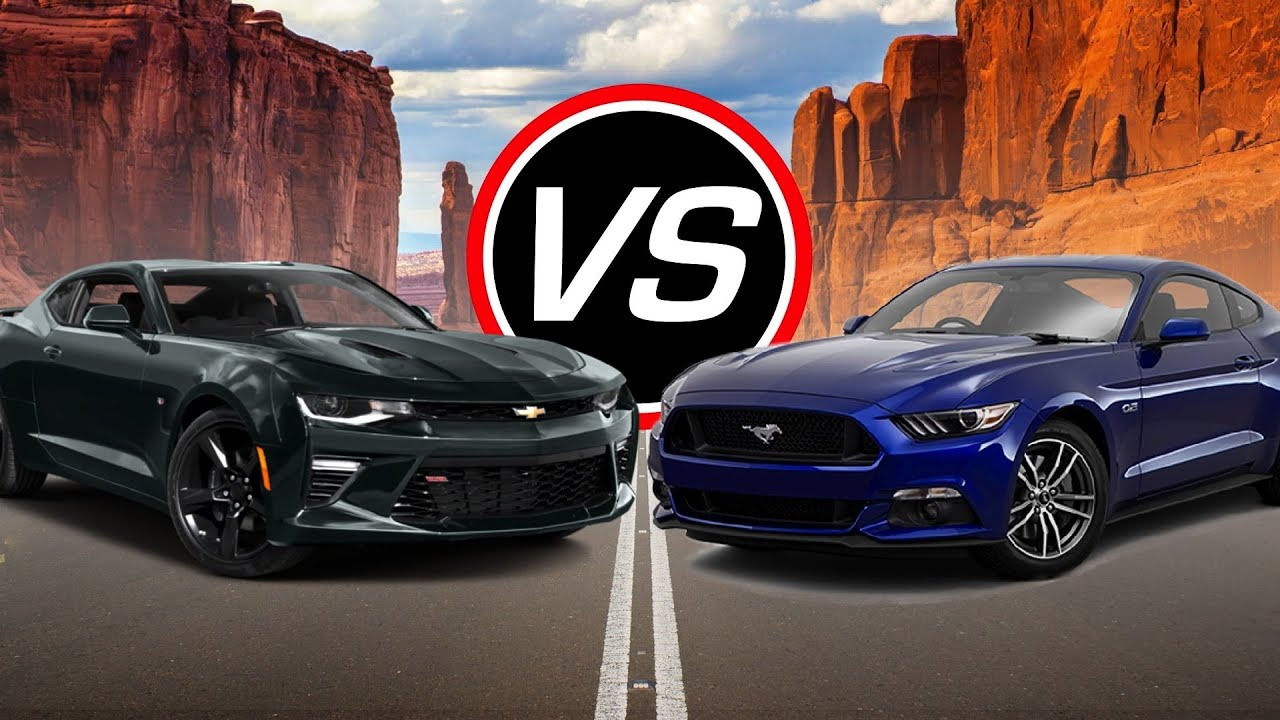 2016 chevy camaro ss vs ford mustang gt spec comparison youtube. Black Bedroom Furniture Sets. Home Design Ideas