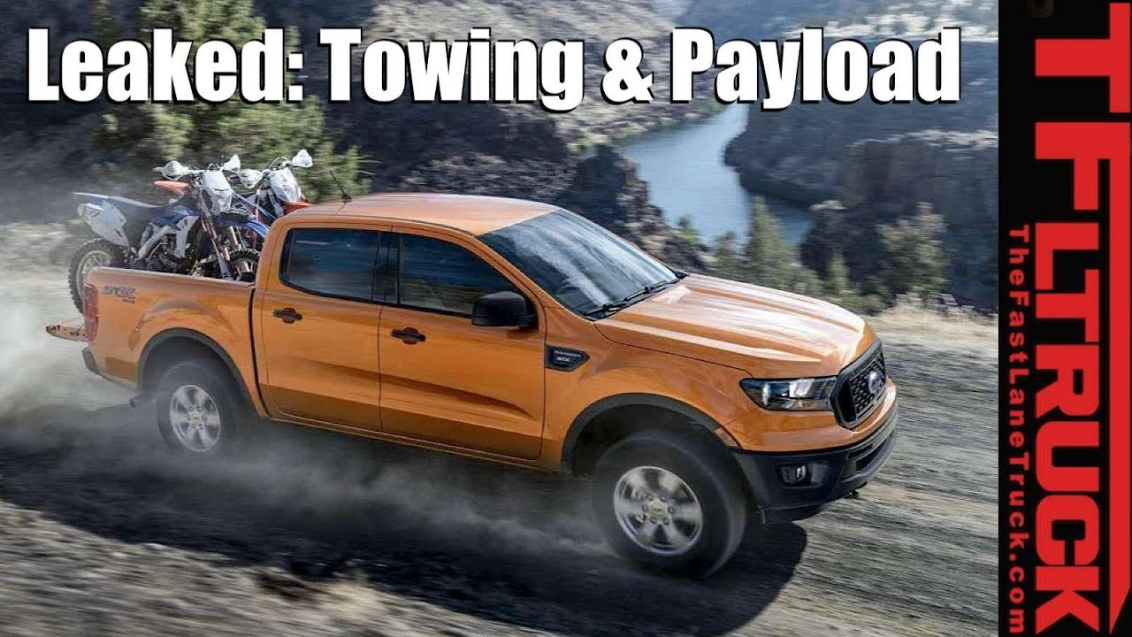 Breaking news 2019 ford ranger payload towing specs is it class leading