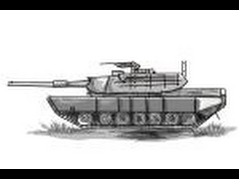 How To Draw A M1 Abrams Battle Tank Youtube