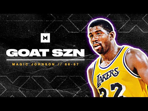 Magic Johnson SHOWTIME Highlights From 1986-87 MVP Season! | GOAT SZN