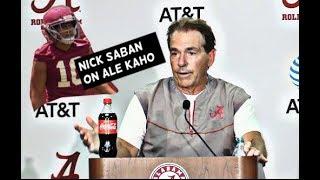 Nick Saban comments on new Alabama linebacker Ale Kaho